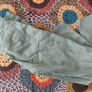 Mother mint green skinny jeans 27
